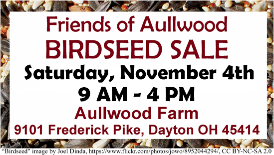Friends of Aullwood Birdseed Sale 2017